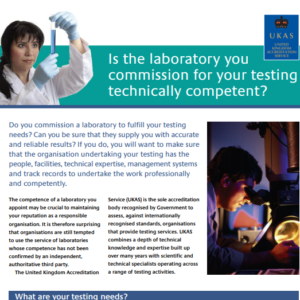Technical Competency of a Lab